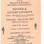 Sprague Museum Dinner March 2017
