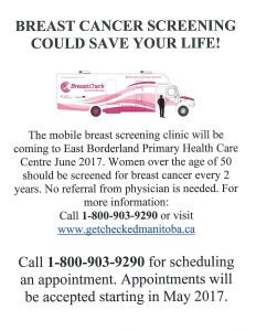 Breast Cancer Screening Poster