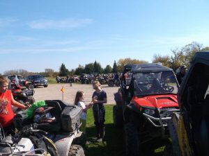 Photo of the annual poker derby in Piney Manitoba