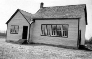 Historical photo of Spurgrave School in Carrick Manitoba