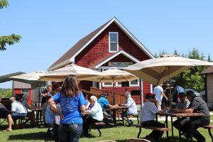 Community celebration in Sprague Manitoba