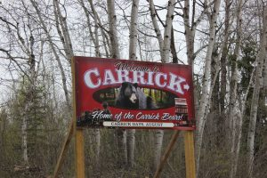 Sign welcoming visitors to Carrick Manitoba