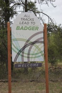 Sign for the Community of Badger Manitoba