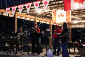 Canada Day celebration in South Junction Manitoba