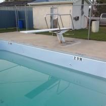 Community outdoor pool in Vassar Manitoba