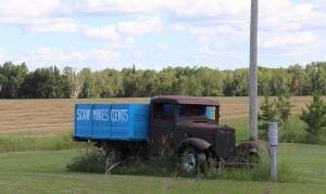 Photo of an old truck located in Menisino Manitoba