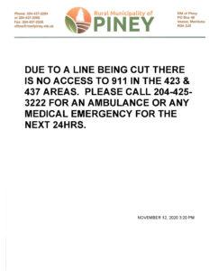 NOTICE 911-SERVICE-DISRUPTION