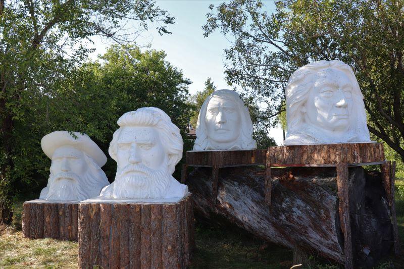 Sculptures in Sandilands Manitoba