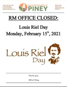 Louis Riel Office Closure 2021-02-15