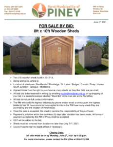 Wooden Sheds for Sale by Bid