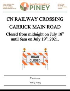 Carrick CN Crossing Closure